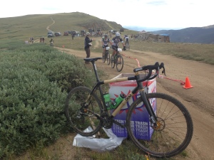 Cross Bike on top of Columbine Climb