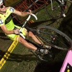 Skyler bunny hopping the CrossVegas barriers