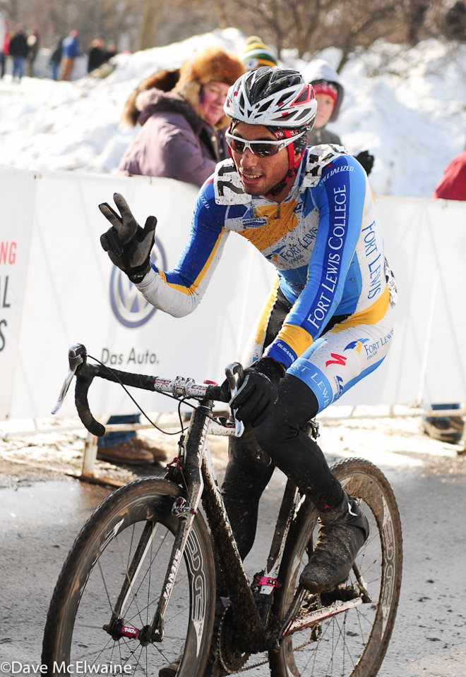 Rotem placed third at Collegiate Cyclocross Nationals last January.