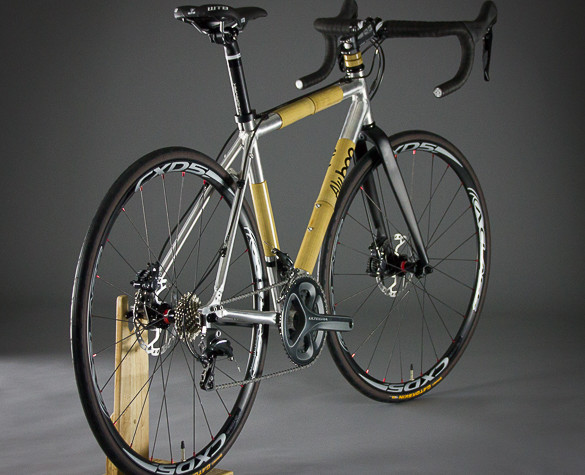 Aluboo, R-Series, bamboo and aluminum bike, bamboo bike, road bike