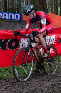 "Young Brannan ""Brano"" Fix on his way to 15th overall at the Cyclocross World Championship in Tabor, CZ on his Boo RS-X"