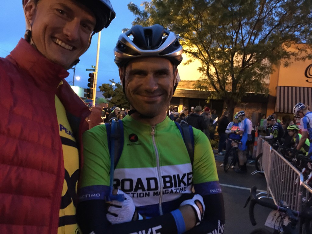 All smiles before the start!